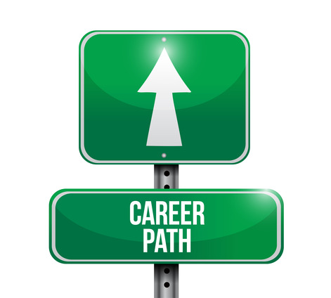 Career path image and road sign